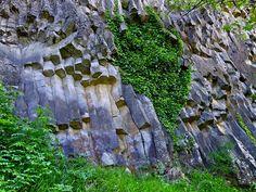 basalt columns Thueyts in Ardèche, France