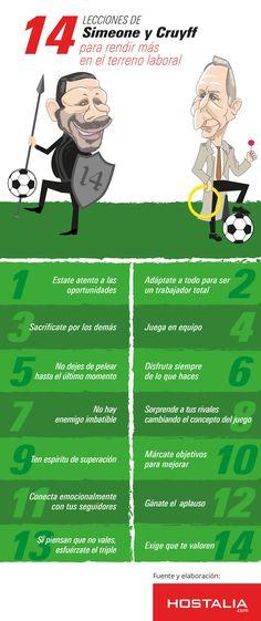 14 lecciones de Simeone y Cruyff para rendir más en el trabajo #infografia