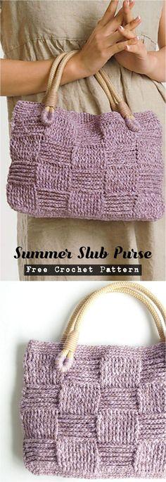 Crochet Summer Club Purse