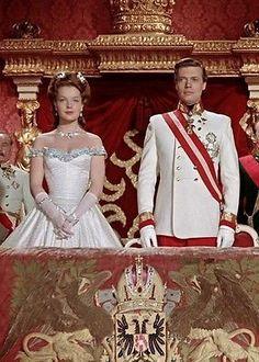 1955 movie about Empress Sissi of Austria Costumes For Teens, Boy Costumes, Movie Costumes, Impératrice Sissi, Sarah Biasini, Empress Sissi, Baseball Costumes, Olivia De Havilland, Vintage Fashion Photography