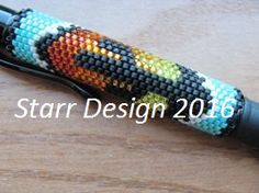 Desert Dawn Peyote Pen Wrap Beading Pattern With Word Chart