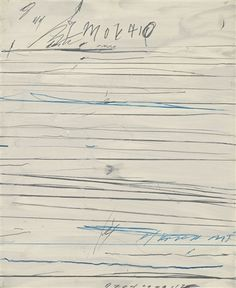 paintedout: CY TWOMBLY – UNTITLED More