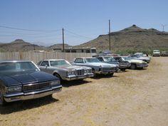Chevrolet Caprice Classic 1985 + Mercury Cougar XR7 1977 + Cadillac Coupé de Ville 1968 + Divers (route 66 2013)