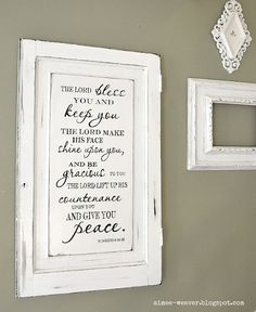 I love this hymn and how it is used as a displayed piece in the home.