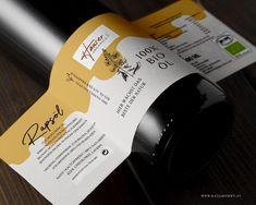 """Packaging Design """"Hauser Organics"""" © KATJA KOMMT - AGENTUR FÜR BESSERE KOMMUNIKATION Wine, Drinks, Bottle, Design, Communication, Drinking, Beverages, Flask"""