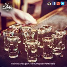 Some extra rounds of Magic Shots. How many of our #M2 Fans would like to join? #m2magicmomentsvodka #magicmoments #shots #vodka