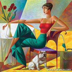 Paintings by Georgy Kurasov  <3 !