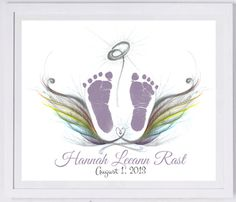 Rainbow Wings Paper Keepsake. These beautiful designs have been created in loving memory of angel babies and children who will forever be in our hearts.  www.myforeverprints.com