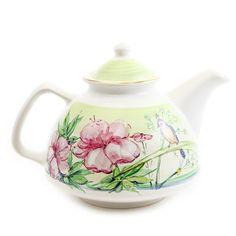 'The Flower Collection' Ceramic Teapot - Handmade, Hand-Painted at The Ceramic Workshop of St Elisabeth Convent | catalog.obitel-minsk.com