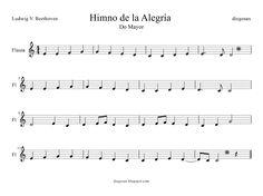 himno dela alegria pentagrama - Buscar con Google Flute, Violin, Sheet Music, Memes, Sd, Ideas Para, Google, Music Sheets, Transverse Flute