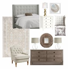 Neutral & Glam Master Bedroom: Claire Brody Designs