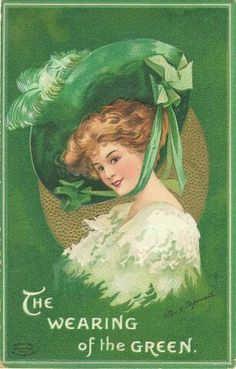 victorian st pats card