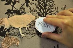 Magnetic Wallpaper - inspired by the changeable nature of fairy tale stories, where frogs can suddenly become princes and princes can become frogs...these narrative wallpapers allow users to move magnetic characters on the wallpaper, write on the speech bubbles and place them anywhere they like.