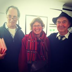 Patrick Benson, Lucy Cousins and Editor at large, David, at the Hooray for Bread! exhibition