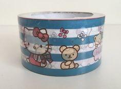 Large Adhesive PVC Decotape | Hello Kitty Blue Stripes: http://www.stationeryheaven.nl/largeadhesivedecotape