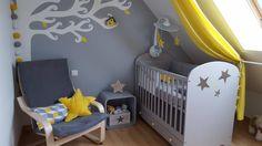 Guirlande lumineuse jaune et grise pour une chambre bébé. par guirlande magic
