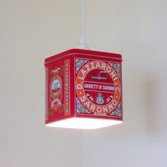 Biscotti tin plug in pendant lights 2 available by 4FLighting, $50.00