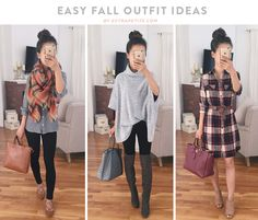 Fall fashion ideas // A few cute & stylish cool weather outfits that come in both regular and petite sizes (click to shop these looks)! // from extrapetite.com
