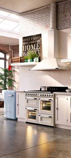 Smeg Victoria TR4110 Cooker, Hood and Washing Machine