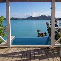 Private plunge pool at Cocobay Resort in Antigua The best view!! We had this front row hut