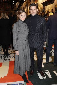 Olivia Palermo and Joannes Huebl attend the Christian Dior show as part of the Paris Fashion Week Womenswear Fall/Winter 2018/2019 on February 27 2018 in Paris