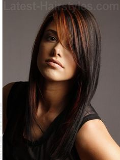 black-highlighted-layered-hair
