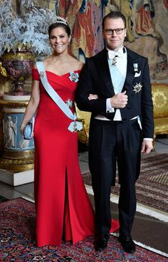 Crown Princess Victoria and Prince Daniel attend the Nobel Laureates Dinner on December 11, 2018.