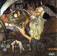 Edmund Dulac--Vintage Illustration--Old Father Time  1906