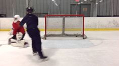 Rebound Simulation Goalie Drill