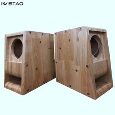 Speaker Box Design, Hifi Speakers, Wooden Cabinets, Arduino, Solid Wood, Diy, The Unit, Pure Products, Empty