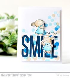 Stamps: Bubble over with Joy, Yay for You Die-namics: Bubble over with Joy  Vika Salmina #mftstamps