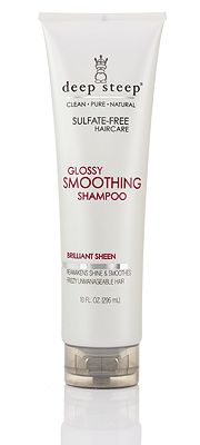 Deep Steep 'Glossy Smoothing' Shampoo Most redheads frequently battle frizzy, unmanageable hair. But, no matter what type of hair you have, you will benefit from using the 'Glossy Smoothing' Deep Steep line. It instantly tames frizz and fly-aways to reveal natural softness and shine. A luxurious lather cleanses hair cuticles while Extracts of Pomegranate and Corn Silk safeguard hair from humidity and frizz. #RedheadGIVEAWAY #GIVEAWAY #ENTERFORACHANCETOWIN