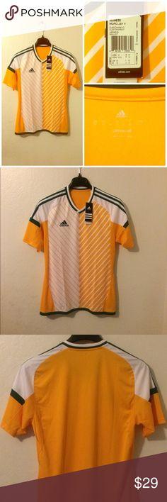Adidas Climalite Green/Yellow T-Shirt Jersey NWT Men's Adidas Climalite, Sz M, Green/Yellow/White V Neck T-ShirtSoccer Jersey. Size Medium. Interested? adidas Shirts