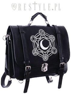 Büro & Schreibwaren Das Beste Mini-messenger-bag Goat Skull Pentagram 19 X 25 Cm Schwarz