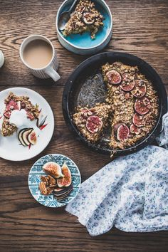 Baked Oatmeal with Figs & Dates by thekitchn: Halfway between a cakey treat and a filling porridge, it's perfect. #Oatmeal #Figs #Dates