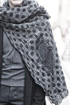 Uma Wang - textural scarves
