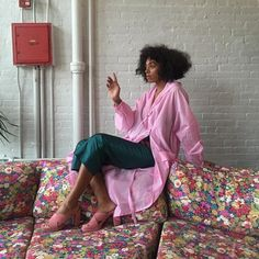 Solange Knowles Thinks Pink