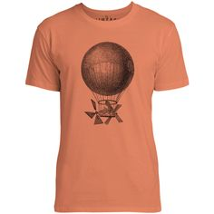 Mintage Magnificent Air Machine Mens Fine Jersey T-Shirt (Coral)