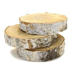 6 Birch Tree Wood Slab Centerpiece