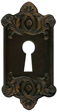 Retro Vintage Door Key Plate for Lock by ~EveyD on deviantART