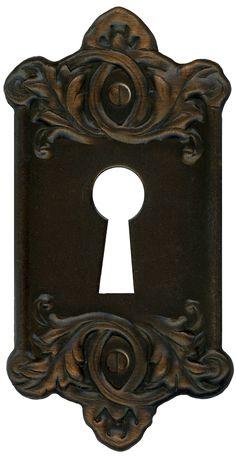 Retro Vintage Door Key Plate for Lock by ~EveyD on deviantART
