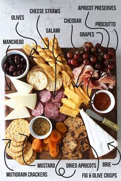 Fun With a Wine & Cheese Party – Drinks Paradise Charcuterie Recipes, Charcuterie Platter, Charcuterie And Cheese Board, Cheese Boards, Snack Platter, Platter Ideas, Cheese Board Display, Tapas Platter, Meat Platter