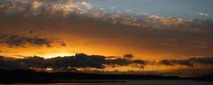 Sunset in Linnansaari National Park.