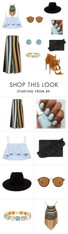 """""""Untitled #85"""" by fefe-tifanie ❤ liked on Polyvore featuring Circus Hotel, New Look, MSGM, rag & bone, Ray-Ban, Kenneth Jay Lane and Leslie Danzis"""