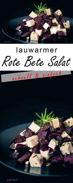 Total köstlicher und super schneller Rote Bete Salat mit Feta Käse. Die frischen Kräuter Rosmarin und Thymian schenken ein besonderes Geschmackserlebnis!