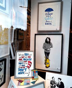Dr Seuss, Billy Connolly and The Young Ones - http://www.edinburghart.com/34087-2/ - http://www.edinburghart.com/wp-content/uploads/big-yin-window.jpg