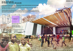 competition winners address educational needs in the Sub-Saharan Africa region Traveling Teacher, Architecture Panel, Interior Rendering, Competition, Homeschool, Africa, Exterior, Education, City