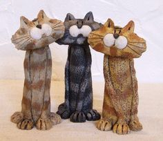 Jj Vincent ceramic tall cats
