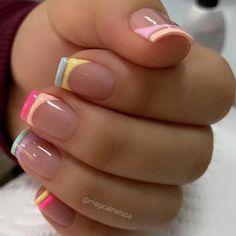 Nails Now, How To Do Nails, Pedicure Nails, Gel Nails, Nail Spa, Gel Manicure Designs, French Tip Nail Art, Aqua Nails, Work Nails