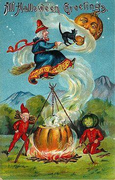 Vintage Halloween Postcards | Flickr - Photo Sharing!